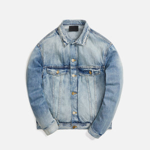 Fear Of God Denim Trucker Jacket 5 Year Wash - Blue