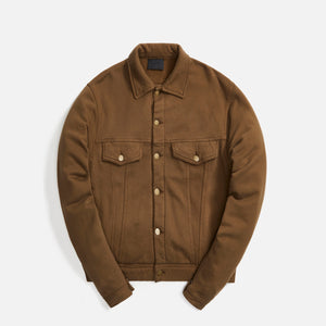 Fear Of God Fleece Trucker Jacket - Brown