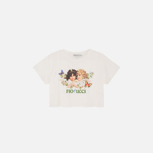 Fiorucci Woodland Angels Boxy Tee - Birch