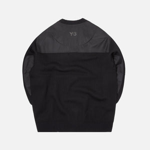 Y3 Nylon-Knit Crew Sweater - Black