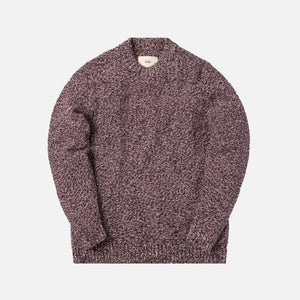 Folk Mixed Yarn Crewneck - Purple