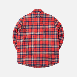 Fear Of God Flannel Shirt Jacket - Red Plaid