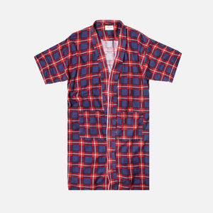 Fear Of God Plaid Flannel Robe - Blue / Red