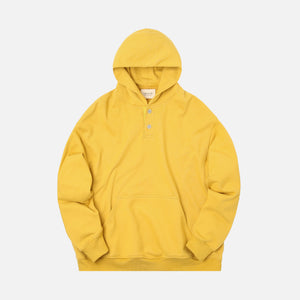 Fear Of God Everyday Henley Hoodie - Garden Glove Yellow
