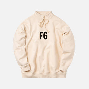Fear Of God Mock Neck FG Pullover - White