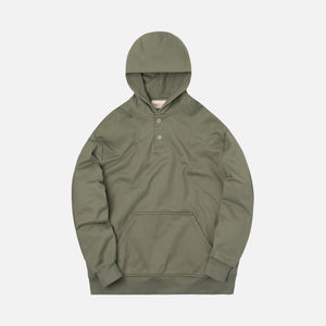 Fear Of God Everyday Henley Hoodie - Army Green Image 1
