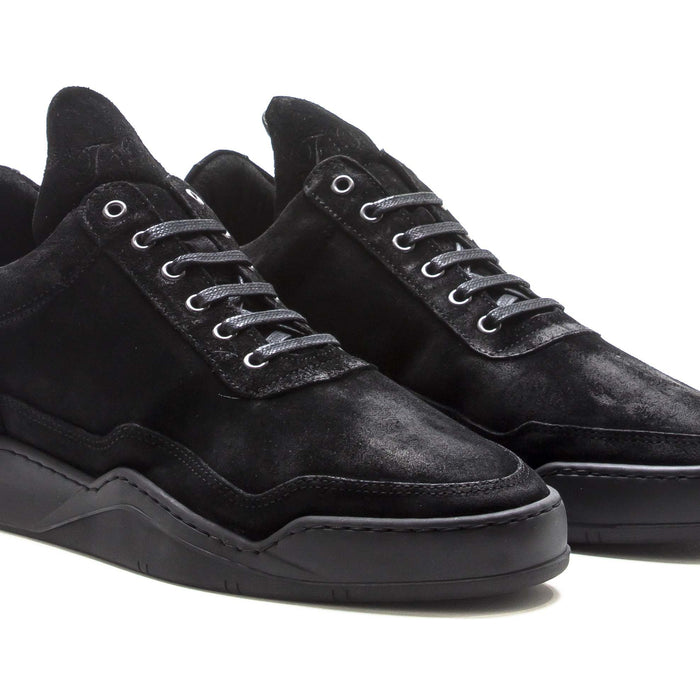 FillingPiece Low Top Ghost Sole - Triple Black / Waxed / Nubuck