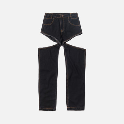 Telfar Thigh-Hole Jeans - Black