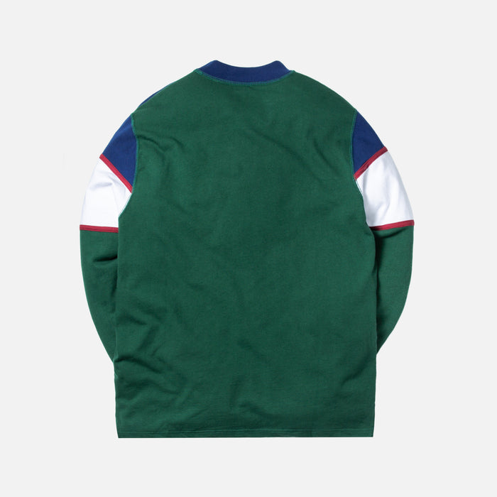 Aimé Leon Dore Color Blocked Logo Crewneck - Green / White / Navy