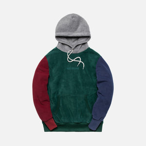 Aimé Leon Dore Polar Fleece Blocked Hoodie - Multi Image 1