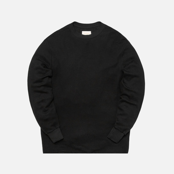 Aimé Leon Dore L/S Distressed Birdseye Thermal - Black