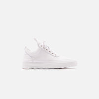 Filling Pieces Low Top Ripple Lane Nappa - All White Thumbnail 1