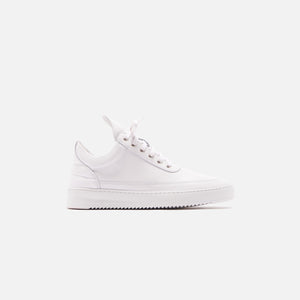 Filling Pieces Low Top Ripple Lane Nappa - All White Image 1