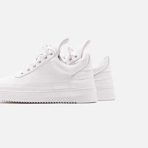 Filling Pieces Low Top Ripple Lane Nappa - All White Image 5