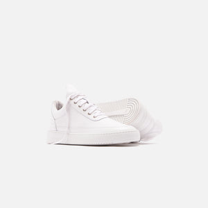 Filling Pieces Low Top Ripple Lane Nappa - All White Image 2