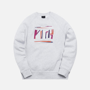 Kith Fractured Crewneck- Light Heather Grey