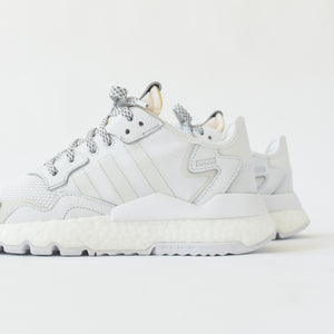 adidas Originals Nite Jogger Boost - White / Crystal White / Grey