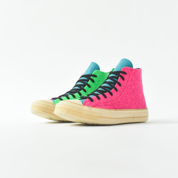 Converse x J.W Anderson Chuck 70 High - Fuschia Purple / Island Green