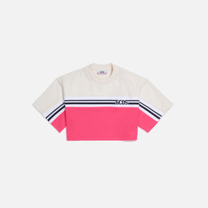 GCDS New Track Crop Tee - Fuschia