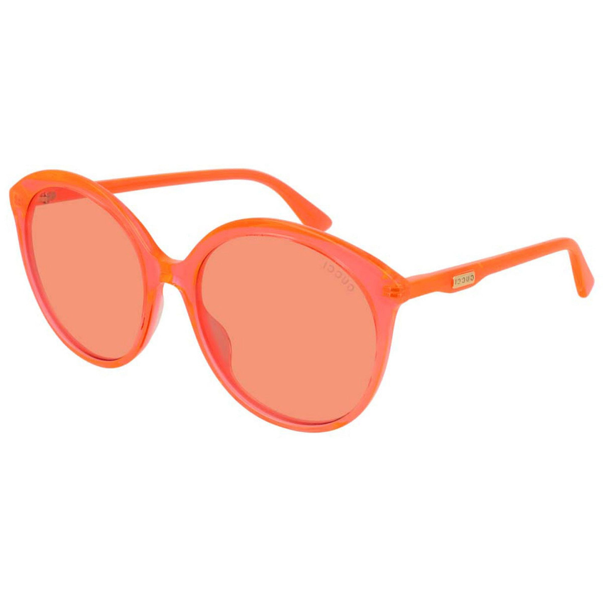 Gucci Eyewear Transparent Circle Sunglasses - Orange