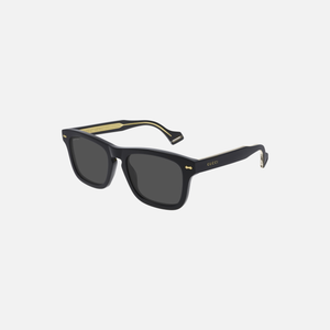 Gucci Eyewear Classic Wayfair Gold Detail - Black