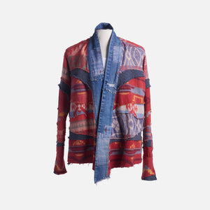 Greg Lauren Vintage Blanket Scrapwork GL1 - Red / Blue