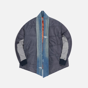 Greg Lauren Washed Satin Puffy GL1 - Steel Blue Image 1