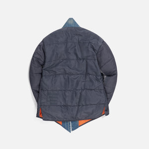Greg Lauren Washed Satin Puffy GL1 - Steel Blue