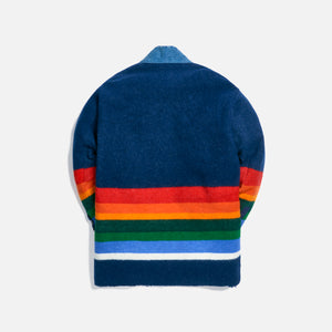 Greg Lauren Striped Blanket Boxy GL1 - Navy