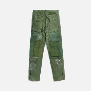 Greg Lauren Vintage Army Jacket Utility Cargo Pant - Green