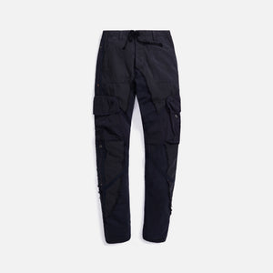 Greg Lauren Baker/Fleece 50-50 Utility Long Slim - Black