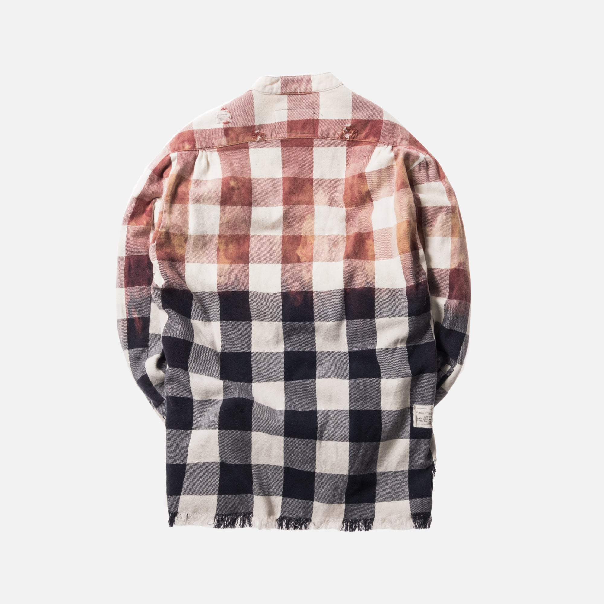 Greg Lauren Beach Buffalo Check Flannel - Faded Navy / White