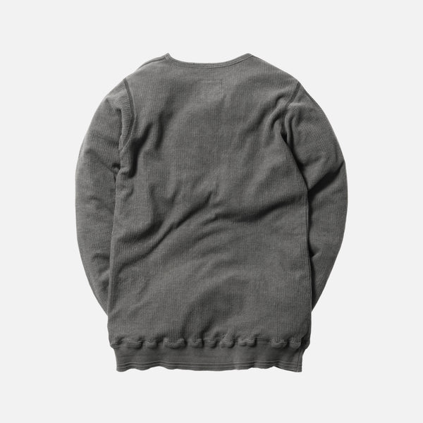 Greg Lauren Thermal Slim Fit L/S Tee - Dusk