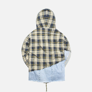 Greg Lauren 50/50 Wimbledon Vintage Denim High Tech Hooded Track - Multi