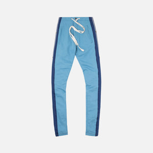 Greg Lauren Long Pant with Mixed Stripes - Blue
