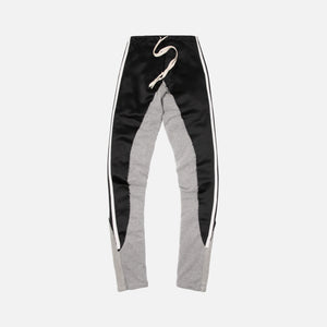 Greg Lauren 50/50 Satin Terry Long Pant - Black