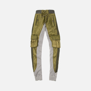 Greg Lauren 50/50 Army Puffy/Terry Long Pant - Green Image 1