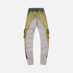 Greg Lauren 50/50 Army Puffy/Terry Long Pant - Green