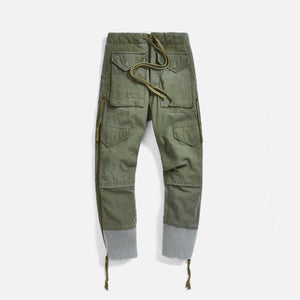 Greg Lauren Puffy Zip Pant - Army