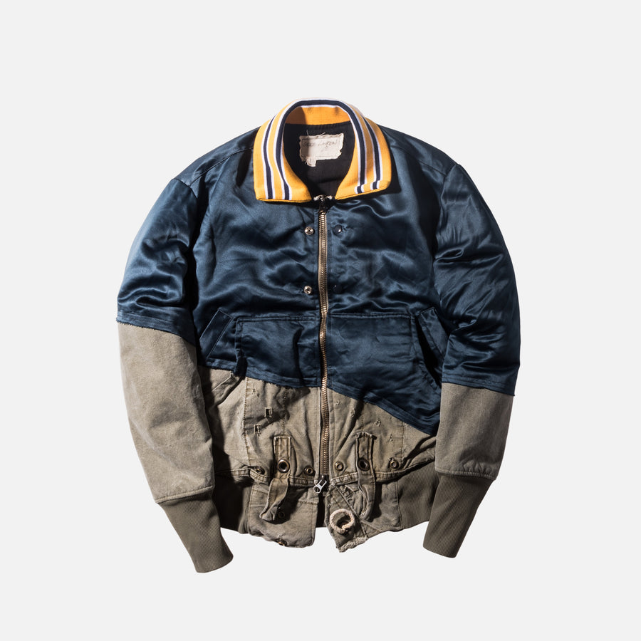 Greg Lauren 50/50 Sports / Army Flight Jacket - Navy