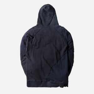 Greg Lauren Destroyed USA Hoodie - Navy