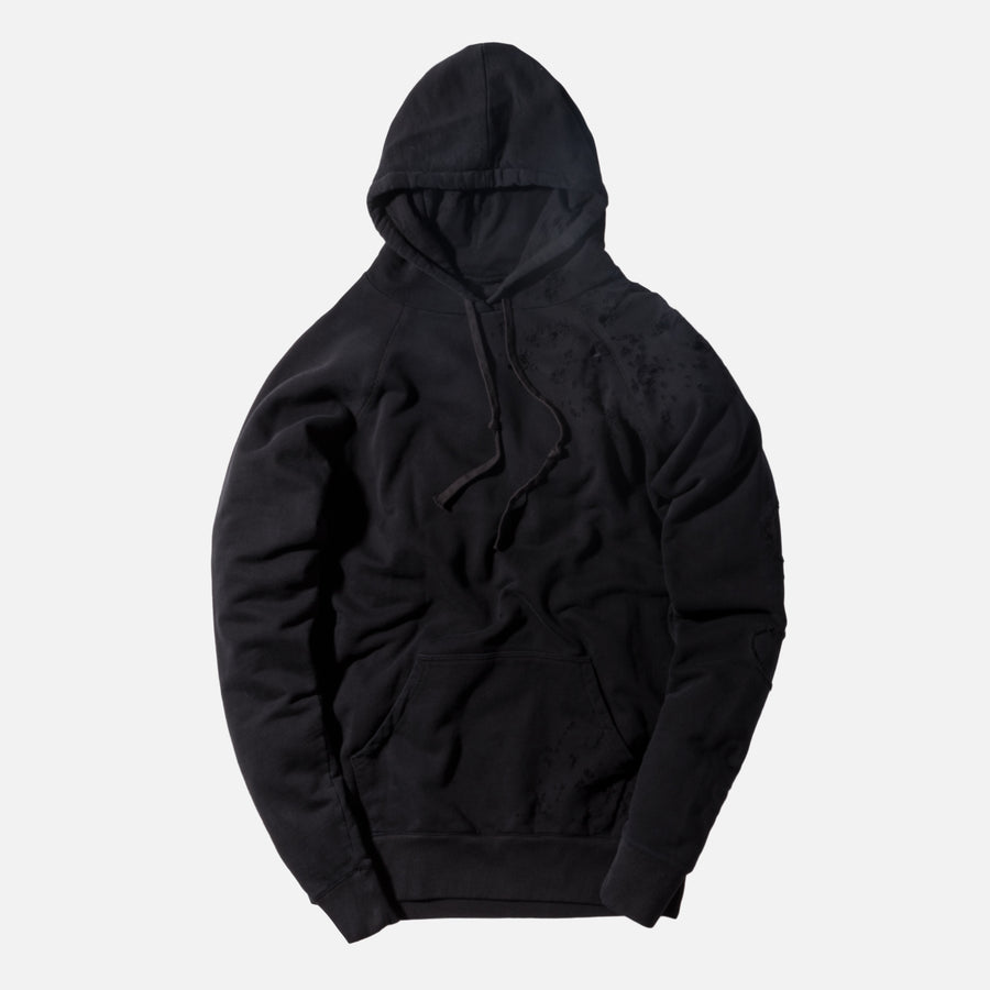 Greg Lauren Destroyed Numbered Hoodie - Black