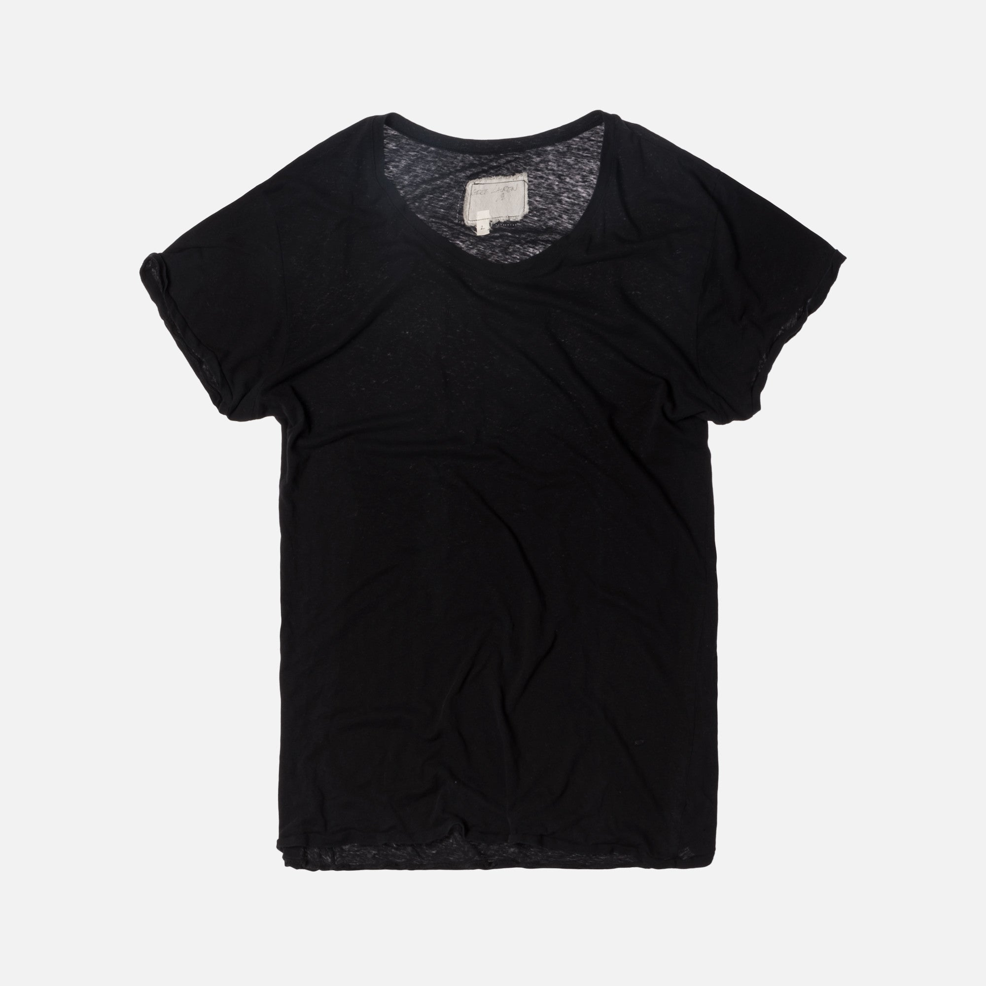 Greg Lauren Slouchy Tee - Black