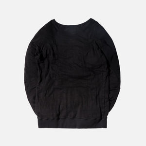 Greg Lauren Raglan Pullover With Pouch - Black