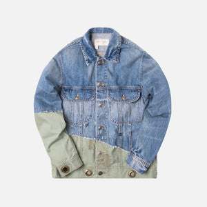 Greg Lauren 50/50 Trucker Jacket - Denim / Army