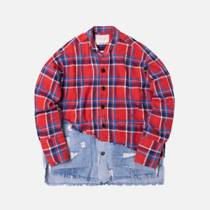 Greg Lauren 50/50 Studio Shirt - Red Plaid / Denim