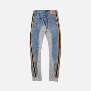 Greg Lauren 50/50 Denim Pant -  Terry Royal