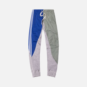 Greg Lauren Quartered Pant - Blue / Grey / Olive