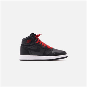 Nike Grade School Air Jordan 1 Retro High OG - Metallic Silver / Gym Red / White / Black Image 1