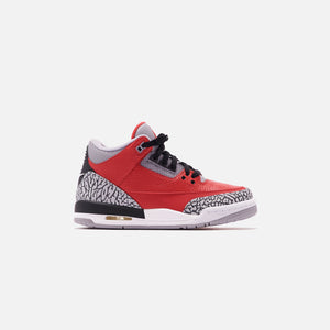 Nike Grade School Air Jordan 3 Retro SE - Varsity Red / Cement Grey / Black Image 1